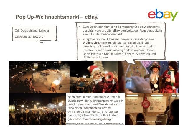 Pop Up-Weihnachtsmarkt – eBay.                                         > Zum Begin der Marketing-Kampagne für das Weihnac...