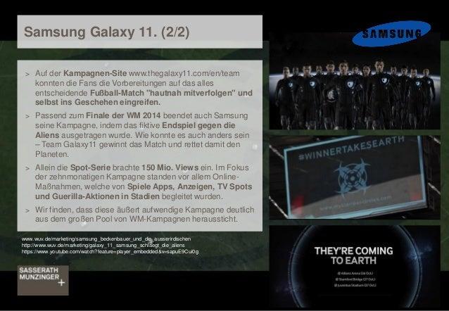 Samsung Galaxy 11. (2/2) > Auf der Kampagnen-Site www.thegalaxy11.com/en/team konnten die Fans die Vorbereitungen auf das ...