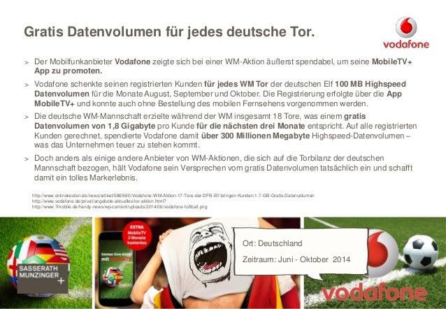> Der Mobilfunkanbieter Vodafone zeigte sich bei einer WM-Aktion äußerst spendabel, um seine MobileTV+ App zu promoten. > ...