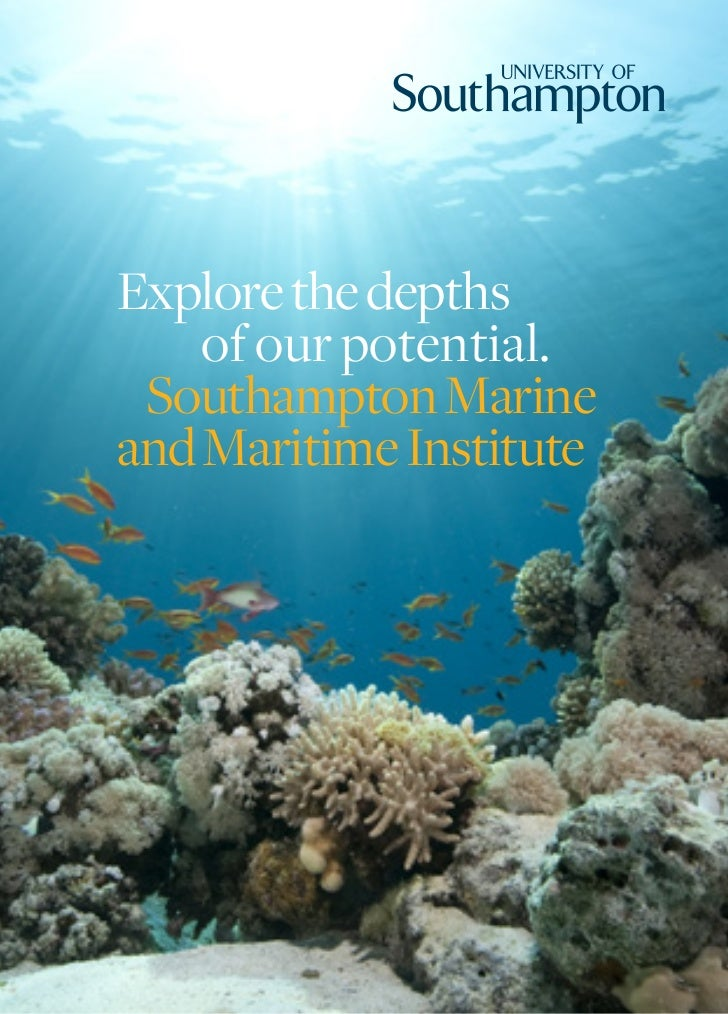 Explore the depths    of our potential. Southampton Marineand Maritime Institute