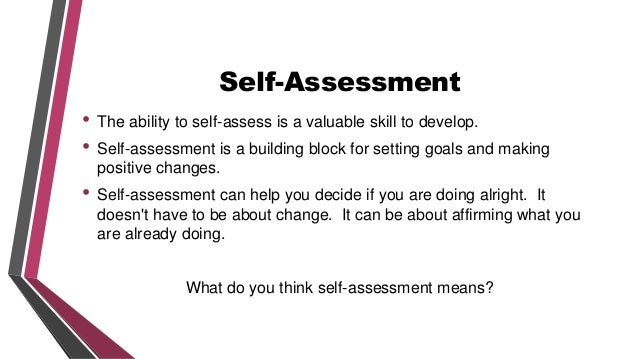 Sm Module B Part 2 Self Reflection And Self-Assessment