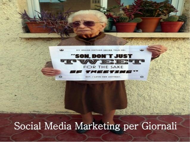 Social Media Marketing per Giornali