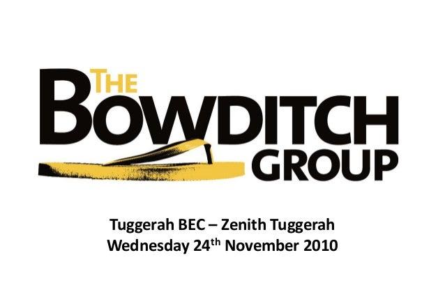 Tuggerah BEC – Zenith Tuggerah Wednesday 24th November 2010