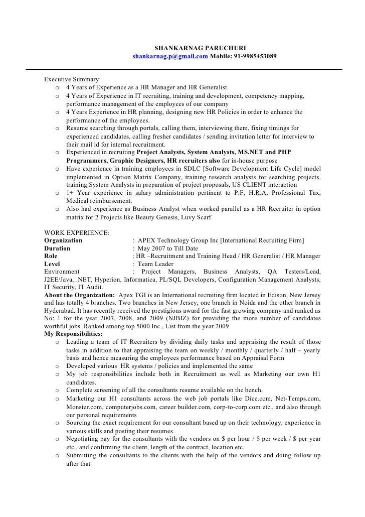SHANKARNAG PARUCHURI                                 shankarnag.p@gmail.com Mobile: 91-9985453089   Executive Summary:    ...