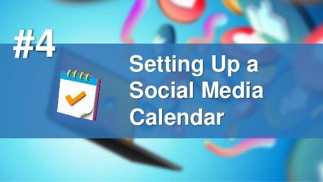 Setting Up a Social Media Calendar #4