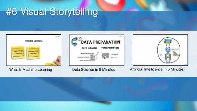 O #6 Visual Storytelling What Is Machine Learning Data Science in 5 Minutes Artificial Intelligence in 5 Minutes