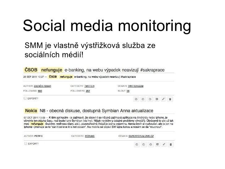 Social media monitoring Slide 3