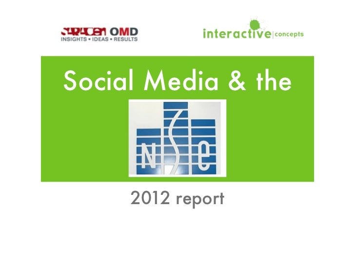 Social Media & the     2012 report