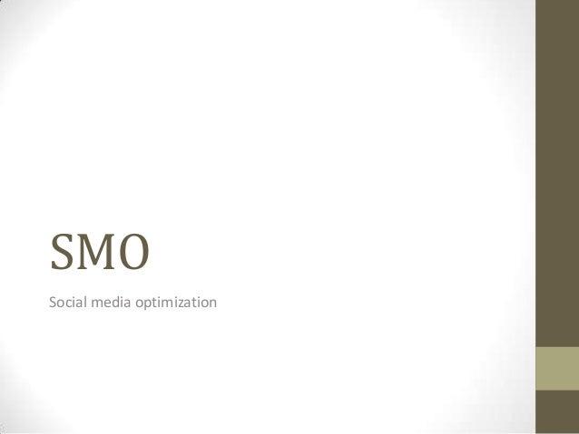 SMOSocial media optimization