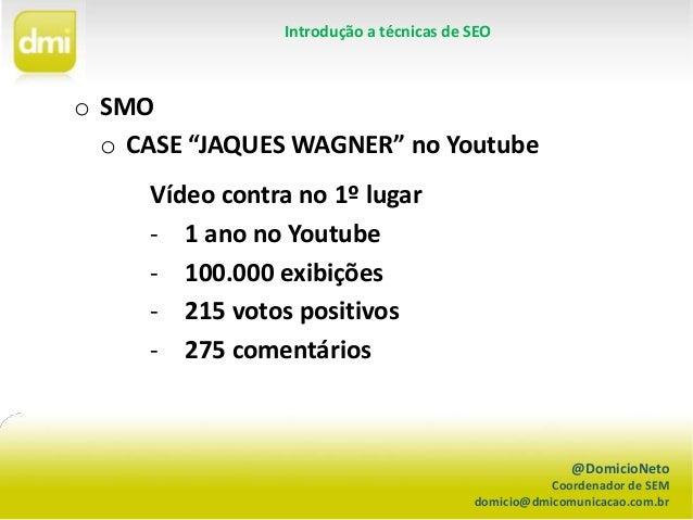 SMO - Como otimizar vídeos no Youtube Slide 2