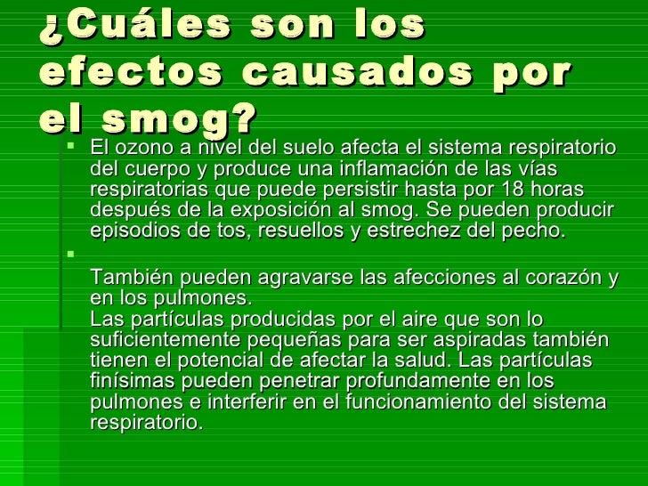 Smog fotoquimico efectos en el medio ambiente 10