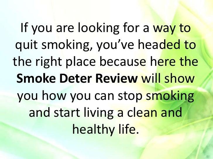 Smoke Deter Stop Smoking