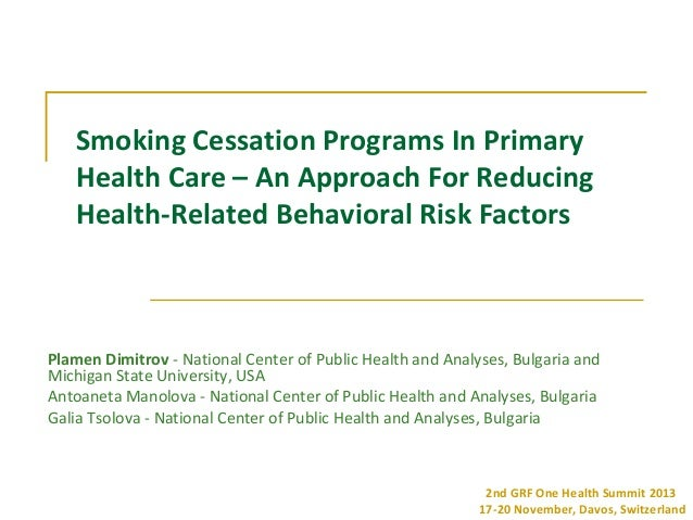 Smoking Cessation Programs In Primary Health Care – An Approach For Reducing Health-Related Behavioral Risk Factors  Plame...
