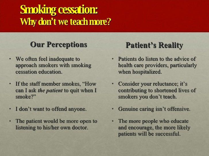 Smoking Cessation Health