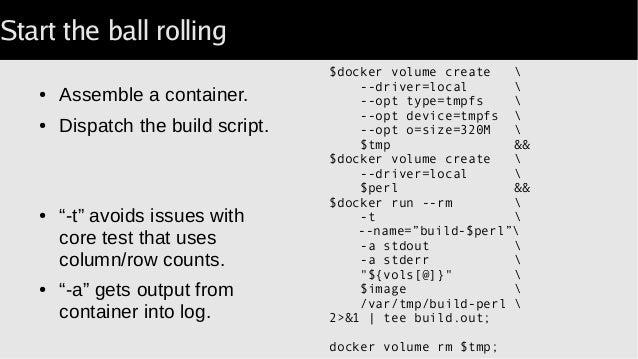 Docker Script Output To Stdout