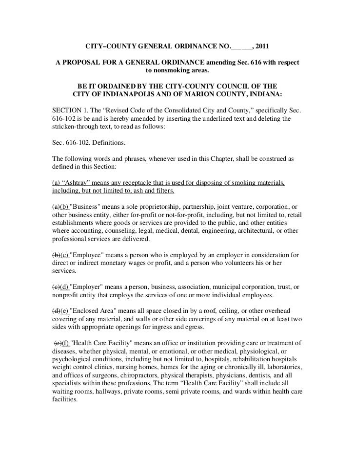 CITY–COUNTY GENERAL ORDINANCE NO.______, 2011 A PROPOSAL FOR A GENERAL ORDINANCE amending Sec. 616 with respect           ...