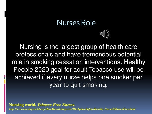 Smoking cessation intervention for nurses to use in ...