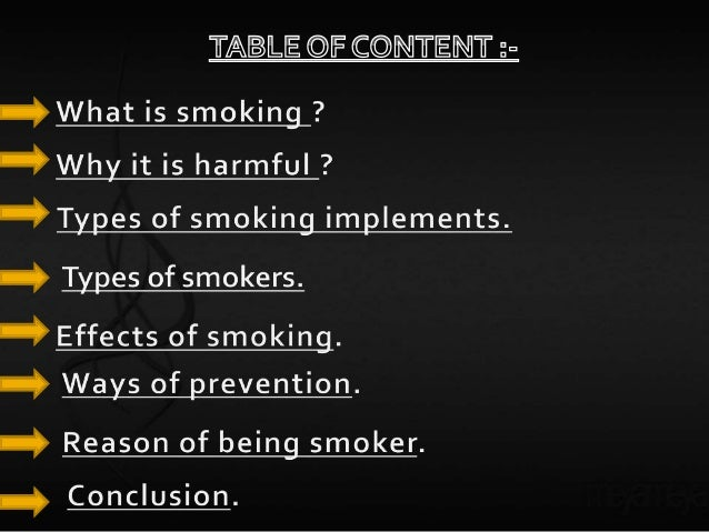Presentation on smoking is injurious to health