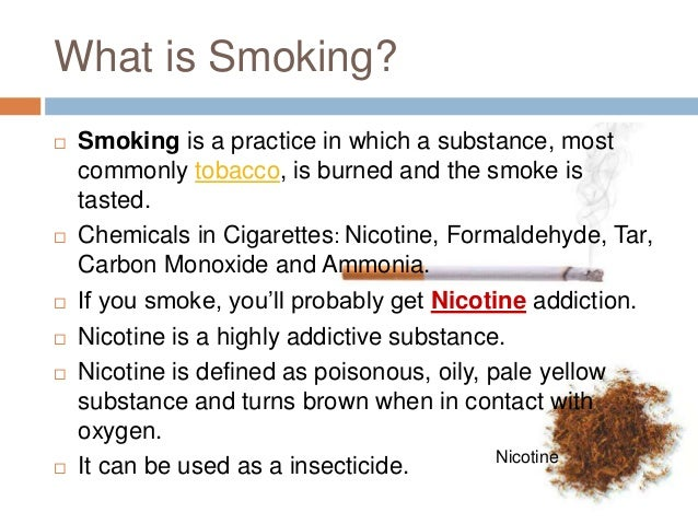 Smoking diseases symptoms