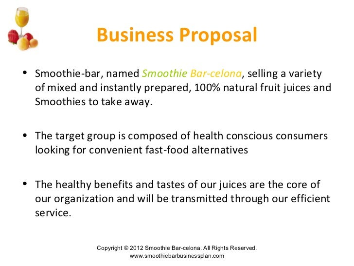 smoothie shop business plan example
