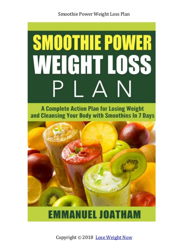 Copyright © 2018 Lose Weight Now Smoothie Power Weight Loss Plan