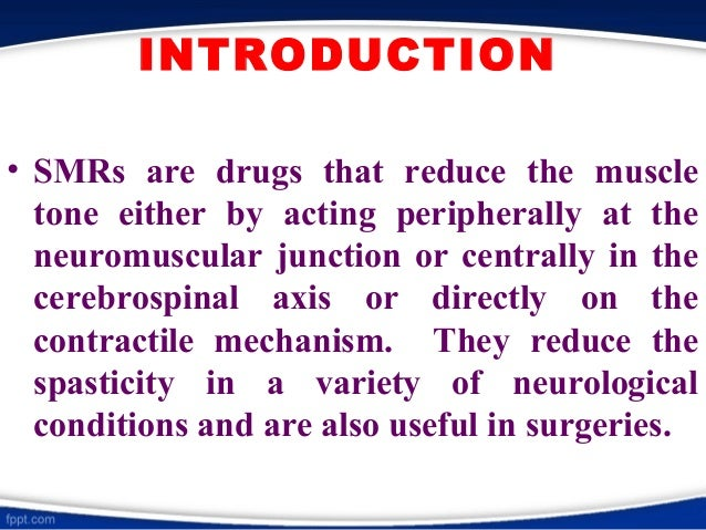 Smooth muscle relaxants Slide 2