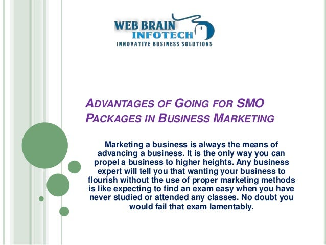ADVANTAGES OF GOING FOR SMO PACKAGES IN BUSINESS MARKETING Marketing a business is always the means of advancing a busines...