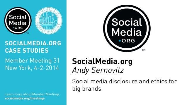 SOC IALMEDIA. ORG MEM B ER MEETIN G 31 NYC SOCIALMEDIA.ORG CASE STUDIES Member Meeting 31 New York, 4-2-2014 Learn more ab...