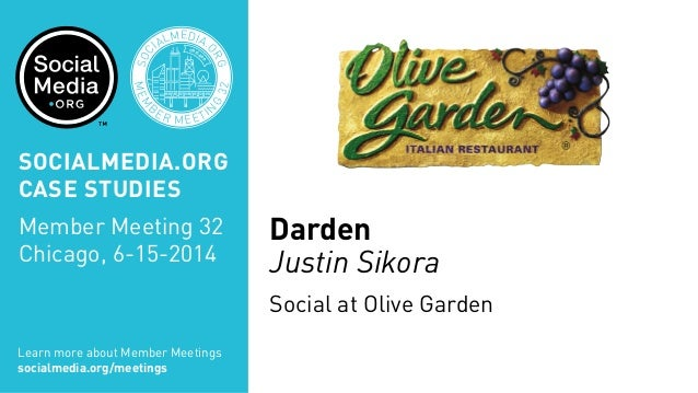 olive garden case analysis In february 2014, olive garden, darden restaurants' (dri) largest brand, committed to a rebranding focused on overhauling their menu coupled with modest price increases in an analysis of.