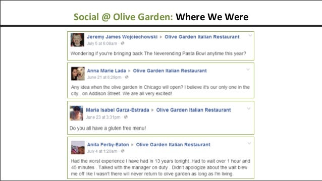 social olive garden where we were - Olive Garden Addison