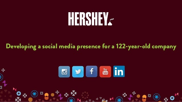 The Hershey Company: Developing a social media presence for a 122-year-old company, presented by Sarah Dull Slide 2