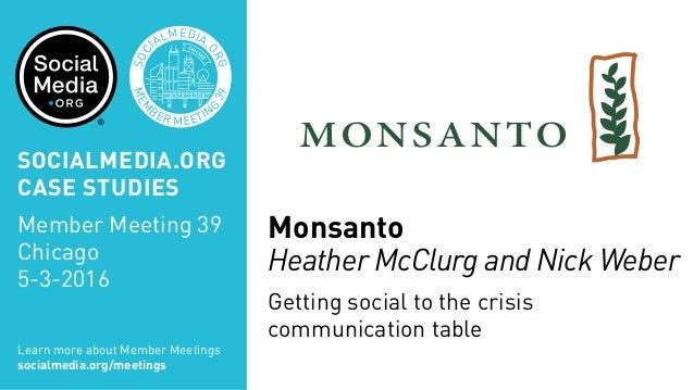 Monsanto case study by ferrell