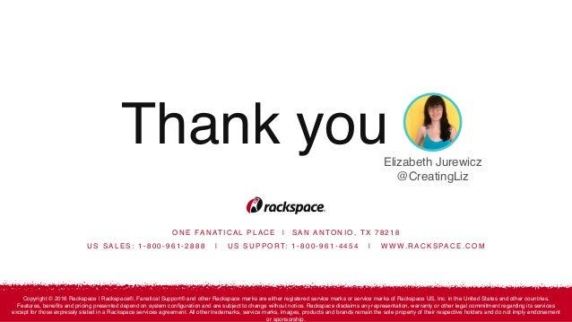 Rackspace Hosting: How to address the
