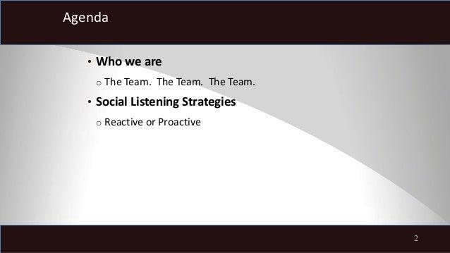 UPS: Proactive social listening, presented by Vincent Washington Slide 3