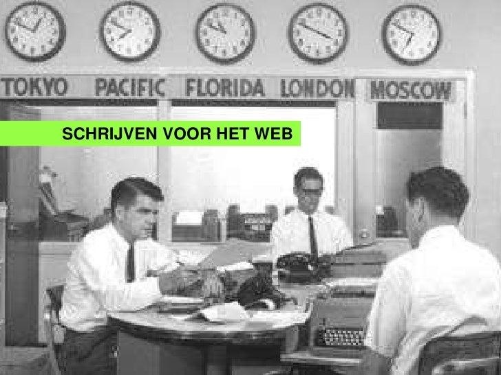 SCHRIJVEN VOOR HET WEB          Webartikels       Schrijvenvoor beginners