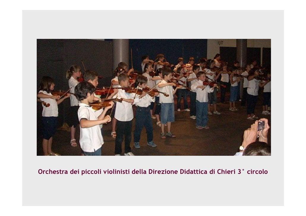 Orchestra dei piccoli violinisti della Direzione Didattica di Chieri 3° circolo