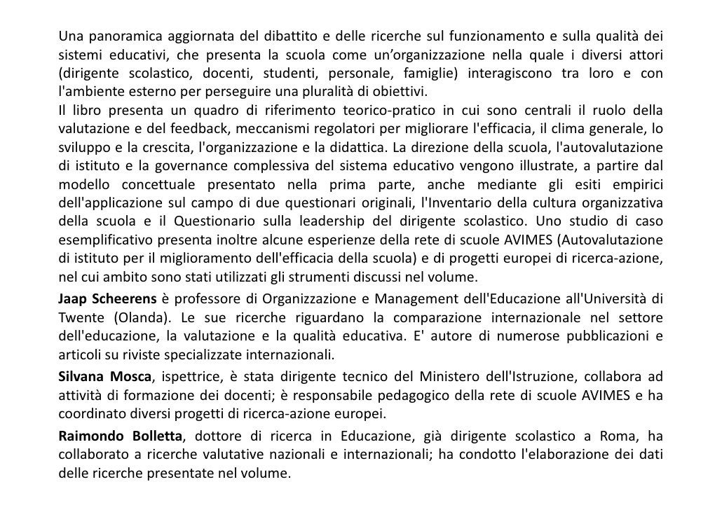 INDICEIntroduzioneParte i. Governance e miglioramento scolastico 1. Il controllo nei sistemi scolasticicaratterizzati da u...