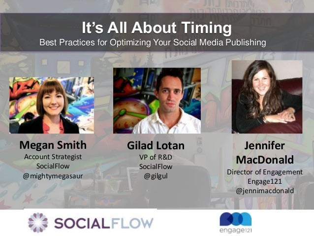 It's All About Timing    Best Practices for Optimizing Your Social Media PublishingMegan Smith               Gilad Lotan  ...