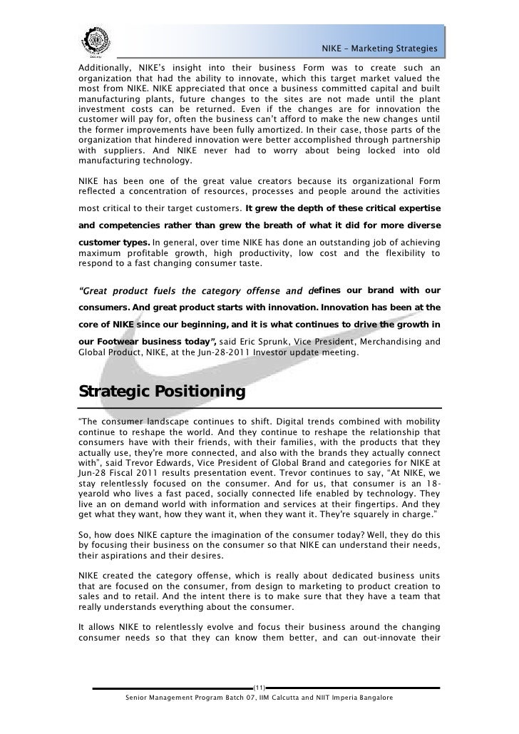 business plan and marketing strategy for nike The marketing strategy of nike is one of the techniques that many business are followed to become successful in the world of business like nike did exclusive report (50 pages) on marketing.