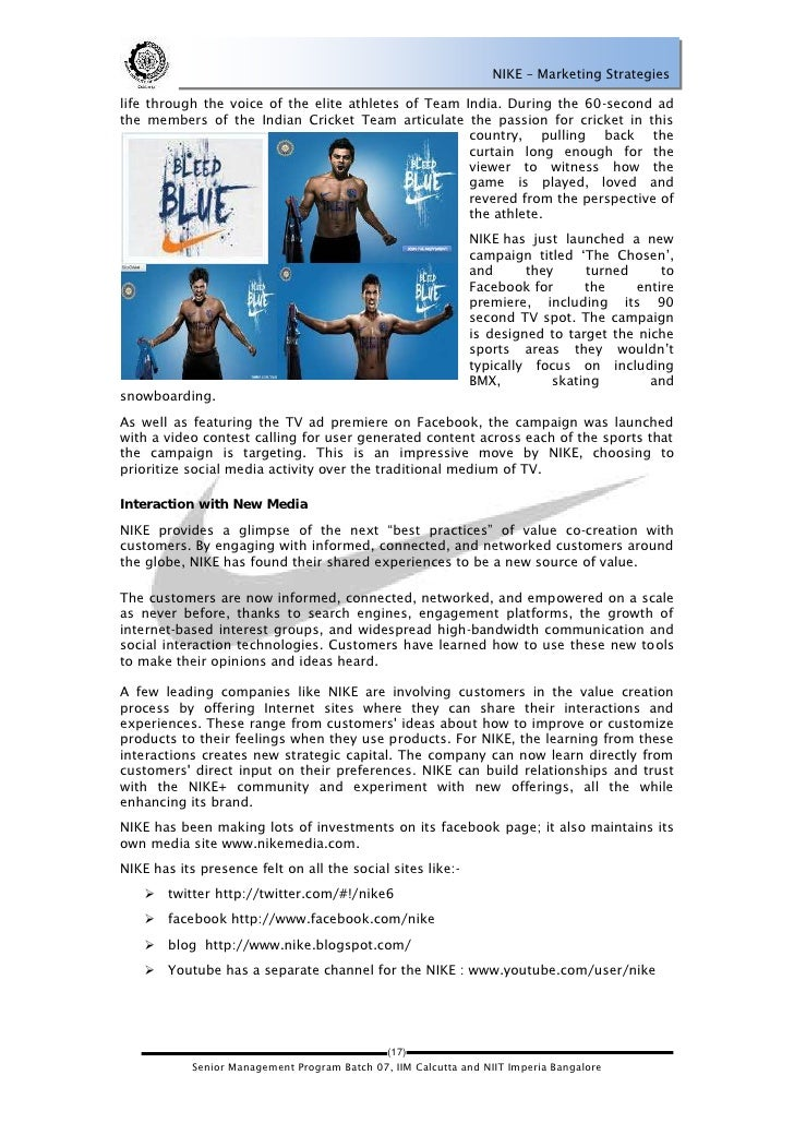 nike business analysis essay Nike business analysis essayiv marketing strategy as a leading athletic brand in the world, much of nike's success can be.