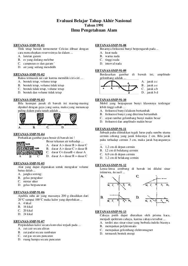 Evaluasi Belajar Tahap Akhir Nasional                                                          Tahun 1991                 ...