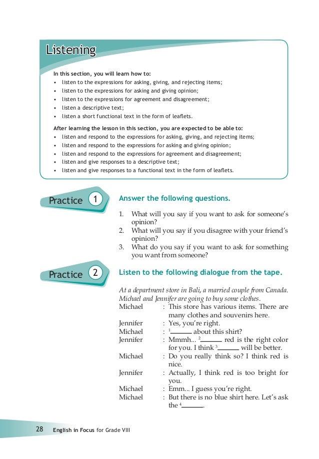 Bahasa Inggris Smp Kelas 8