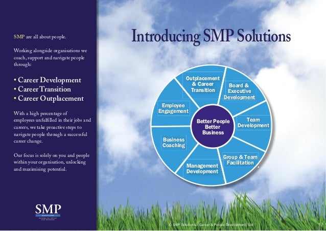 IntroducingSMPSolutionsSMP are all about people.Working alongside organisations wecoach, support and navigate peoplethroug...