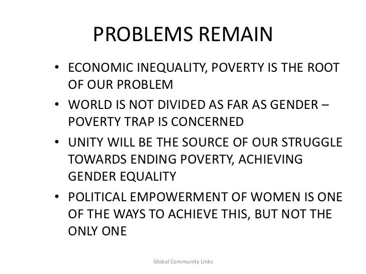 "the problem of gender inequalities Gender is a social construct, a product of culture, and it is so polluted by the reality of gender inequality that virtually everything we think we know about it needs to be abandoned as he puts it, ""i will argue that gender difference is the product of gender inequality and not the other way around   ."