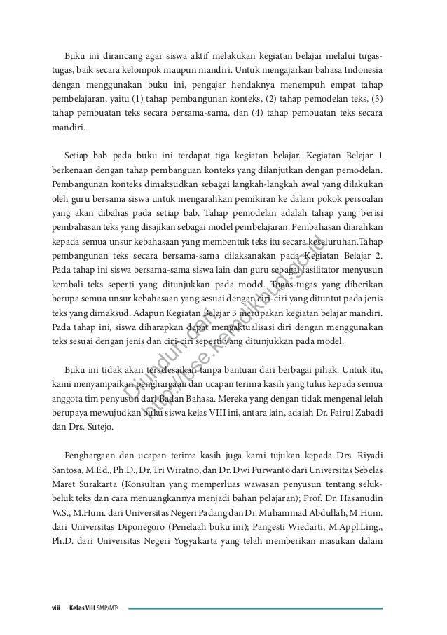 Smp Kelas 8 Bahasa Indonesia Wahana Pengetahuan Buku Guru