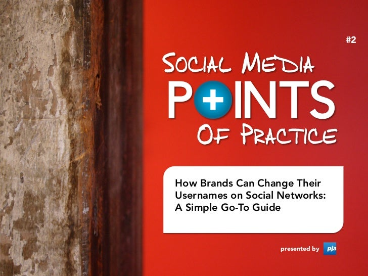 #2How Brands Can Change TheirUsernames on Social Networks:A Simple Go-To Guide                    presented by