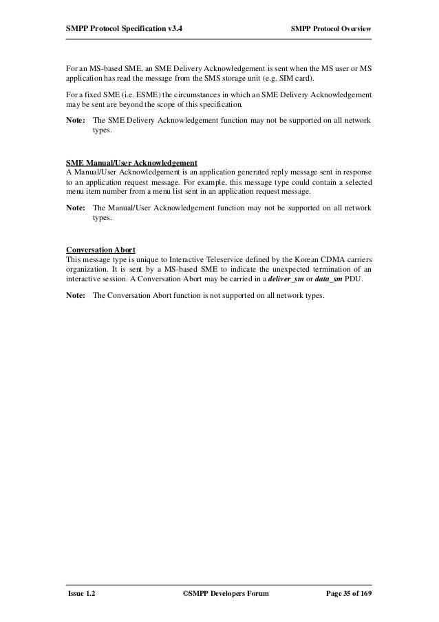 smpp protocol specification v3.4 pdf