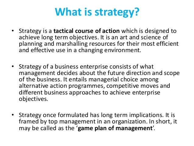 Strategic management ppt definition of strategy malvernweather Images