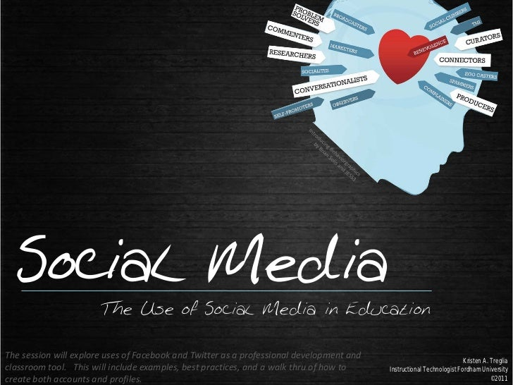 Social Media                       The Use of Social Media in EducationThe session will explore uses of Facebook and Twitt...