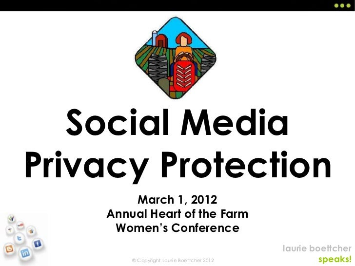 Social MediaPrivacy Protection        March 1, 2012    Annual Heart of the Farm     Women's Conference                    ...